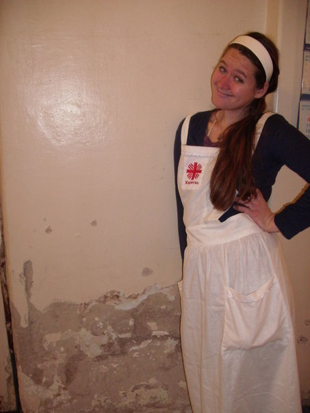 volunteer nurse apron russian vladivostock volunteer
