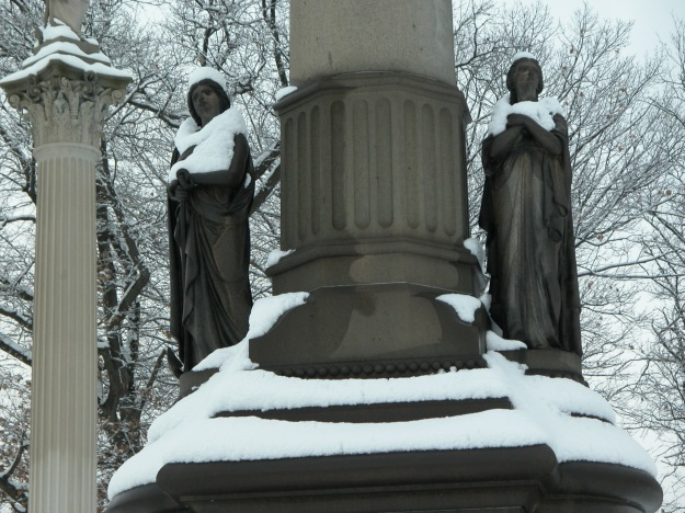 winter's mantle cemetery statues