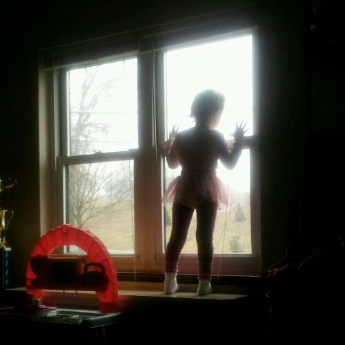 ballerina baby in the window