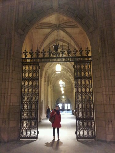 arched door wrought iron gate pittsburgh cathedral of learning